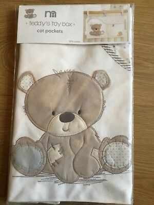 Mothercare teddy's toy box Cot Pockets ** BNIP **