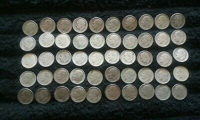 90% Silver Roll Roosevelt Dimes 50 Coins $5 Face Mixed Dates Circulated
