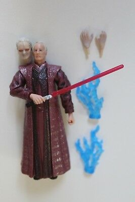 Star Wars 2005 Revenge of the Sith Palpatine Red Saber Action Figure Loose #35