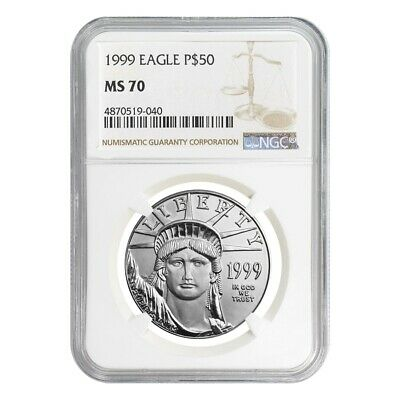 1999 1/2 oz $50 Platinum American Eagle Coin NGC MS 70