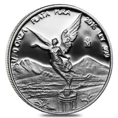 2016 1/10 oz Mexican Silver Libertad Coin .999 Fine Proof (In Cap)