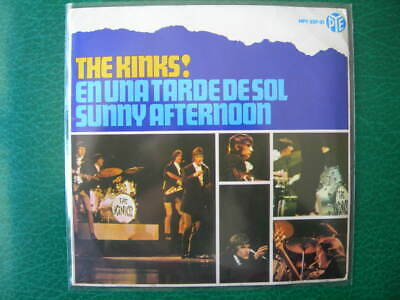 """The Kinks """"sunny Afternoon"""" +3 Super Rare 7"""" Ep Spanish First Press 1966 Spain"""