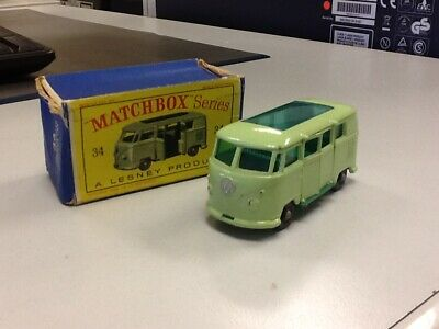 Matchbox Nr.34 Volkswagen Camper Car in OVP rar