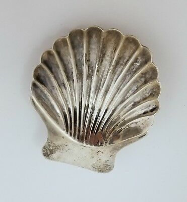 Mexico 925 Sterling Silver Seashell Scallop Clam Shell Footed Ashtray Dish