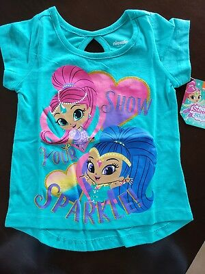 e8acc2184d Nickelodeon Shimmer and Shine Toddler girls shirt size 2t toddler NEW!