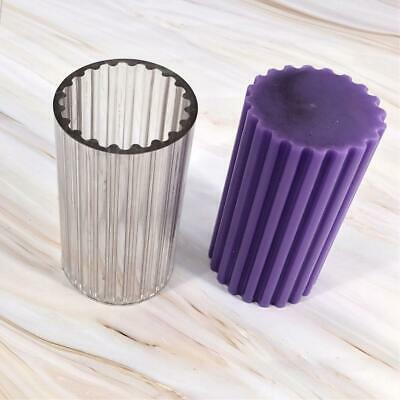 Polycarbonate fluted pillar candle mould