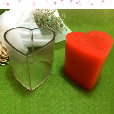 Polycarbonate heart pillar candle mould