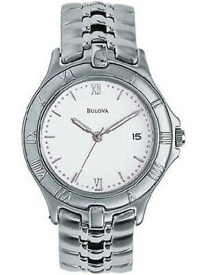 BULOVA 96B21,Men Quartz Dress,Metal case and bracelet,Silver tone,White Dial,WR