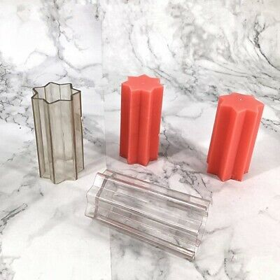Polycarbonate star pillar candle mould