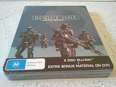 Star Wars Rogue One Story Blu Ray Steelbook Limited Edition Brand New Sealed