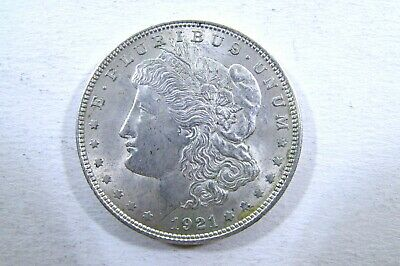 One United States 1921 Morgan  Dollar 90% Silver  Extra Fine Average Circulated