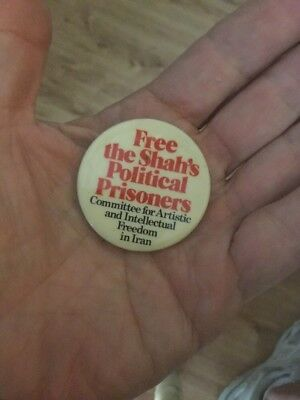 Vintage Free The Shah's Political prisoners Pin
