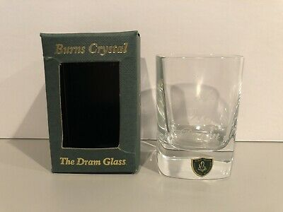 """Burns Crystal The Dram Glass Handcrafted """"A Wee Dram"""" Made In Scotland Rare New!"""