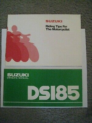 Suzuki Ds185 Owners Manual/riding Tips Manual Dated October 1978 Nos!