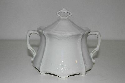 Tirschenreuth Baronesse White Covered Sugar Bowl-Germany