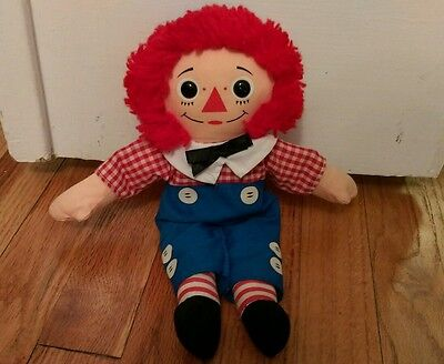 vintage Playskool Raggedy Andy plush cloth doll Ann Collectible stuffed  old toy