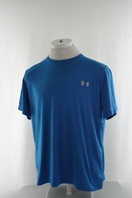35df877f491f32 Under Armour Men s T Shirt Size L Large Canary Blue HeatGear Loose Fit  Athletic