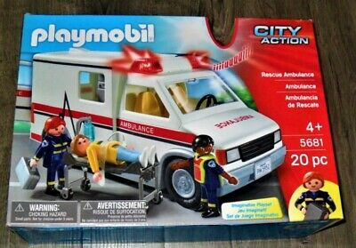 Playmobil City Action Rescue Ambulance 20 Pieces New Sealed