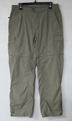 Columbia Titanium Womens Convertible Hiking Pants Shorts Size M Dark Brown Nylon