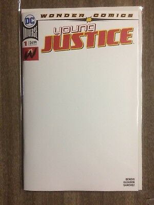 Young Justice #1 Blank Variant NM 2019 Stock Image