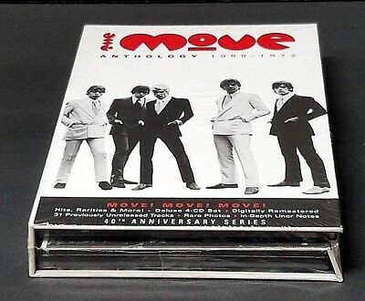 THE MOVE Anthology 1966-1972 - 4 CD Box Set 40th Anniversary Series NEW & SEALED