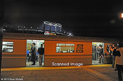 New York IRT Train Of Many Colors 9306 111th St 5 x 7 Original Photograph