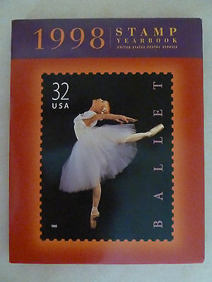 1998 Usps Commemorative Stamp Yearbook W/protective Cover & Stamps