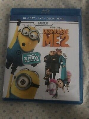 despicable me 2 blu ray and DVD