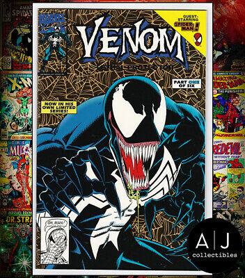 Venom Lethal Protector #1 GOLD FOIL (I Marvel M) VF - NM! HIGH RES SCANS!