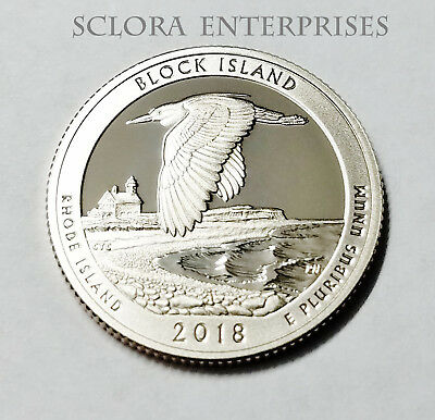 2018 S Block Island  *clad Proof*  Atb Quarter   **free Shipping**