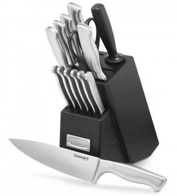 Cuisinart 15-Piece Stainless Steel Hollow Handle Block Set Fast Ship Japan EMS
