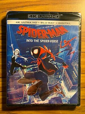 ***spider-Man:into The Spider-Verse***4K Uhd+Blu-Ray+Digital-Brand New & Sealed!