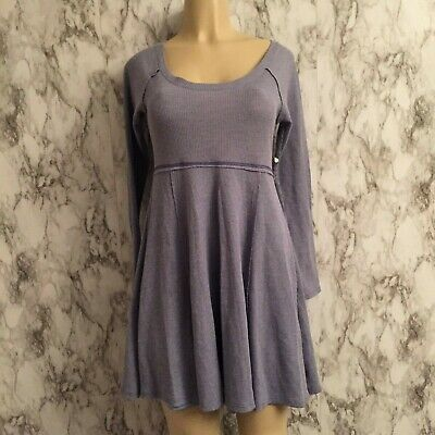 41e0ec70a41 Altar d State skater dress M Medium Thermal Waffle Weave Bluish Gray Lined