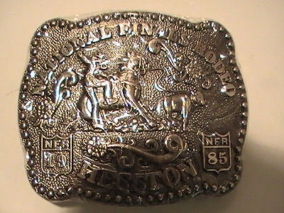 New Sealed 1985 Hesston National Finals Rodeo Ladies Belt Buckle