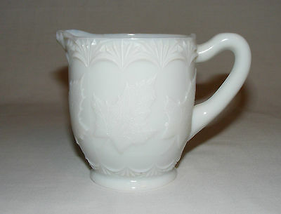 Antique Victorian Rare Early Canadian Pressed Glass Maple Leaf Cream Jug