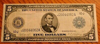 Five Dollar Federal Reserve note series of 1914