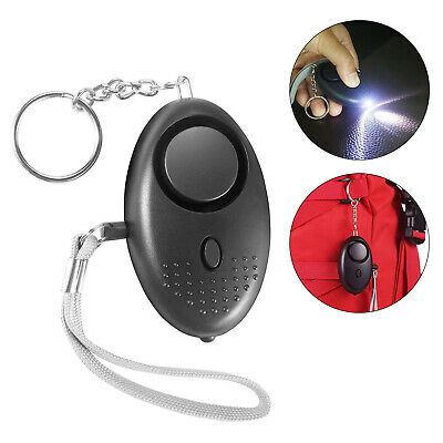 Personal Safety Alarm Keychain 140db Loud Alarm Led Light Emergency Siren Song