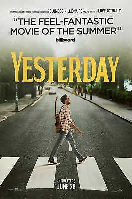 YESTERDAY (2019) LARGE POSTER 27X40-Lily James, Ed Sheeran, DIR. by Danny Boyle