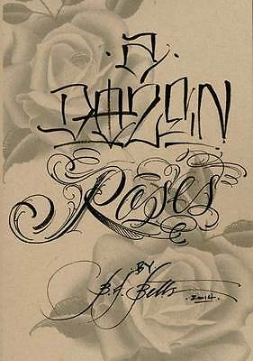 A Dozen Roses Tattoo Flash Book Hand Painted by BJ Betts