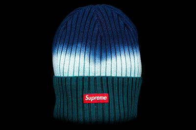 SUPREME OVERDYED BEANIE Teal Tie Dye Ss19 Black Red Natural Box Logo Cdg Hat