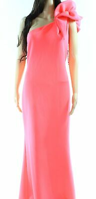f89a47c64d84 Betsy & Adam NEW Neon Pink Womens Size 6 One Shoulder Ruffled Gown $249- 752