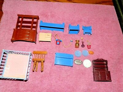 Mixed Lot of Mid Century Modern and Vintage Dollhouse Furniture and Misc.