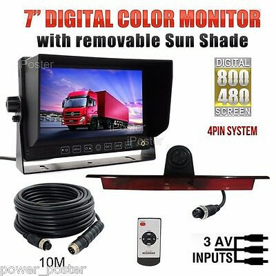 "7"" Monitor+4Pin Backup Brake Light Camera For Mercedes-Benz Sprinter VW Crafter"