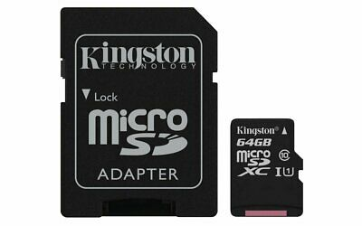 KINGSTON Canvas Select:MicroSD 64GB , 80MB/s read and 10MB/s write with SD adapt