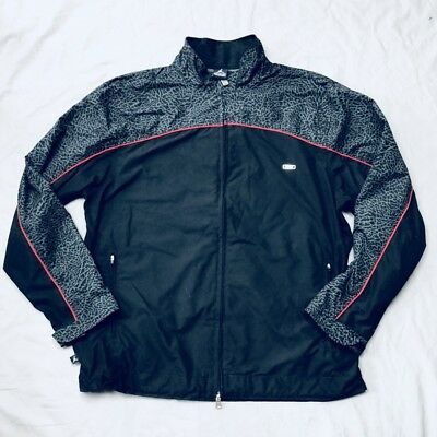 3eca3f2e43c1 Air Jordan Nike Men s Jumpman Jogging Track Jacket Black Gray Size XL