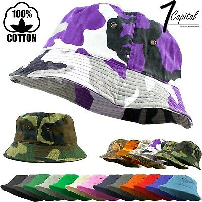 Bucket Hat Cap Cotton Fishing Boonie Brim visor Sun Safari Summer Men Camping