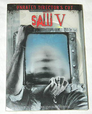 NEW Saw V (DVD, 2009, Widescreen Version; Unrated Director's Cut) Factory Sealed