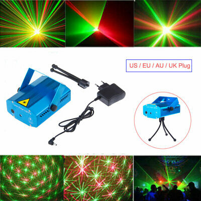 2018 Mini Projector DJ Disco Light Stage Laser LED R&G Party Xmas Lighting Show