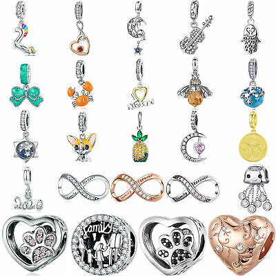 Charms 925 Sterling Silver Charms Beads DIY Fit Bracelet Christmas Jewelry NEW