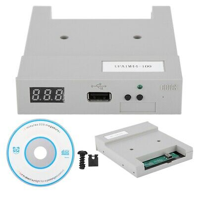 New UFA1M44-100 USB Floppy Drive Emulator with Floppy Drive ABS Gray  BY